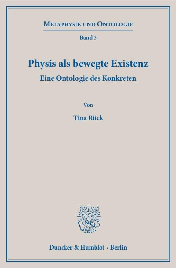 Cover Physis als bewegte Existenz