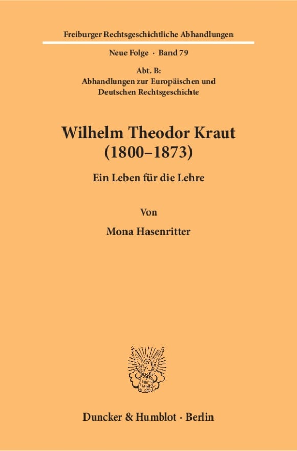 Cover Wilhelm Theodor Kraut (1800–1873)