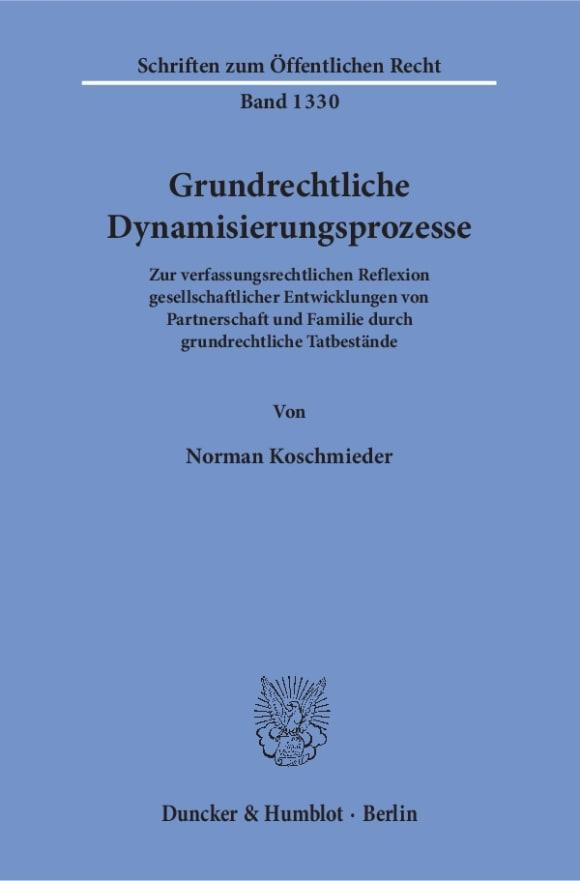 Cover Grundrechtliche Dynamisierungsprozesse