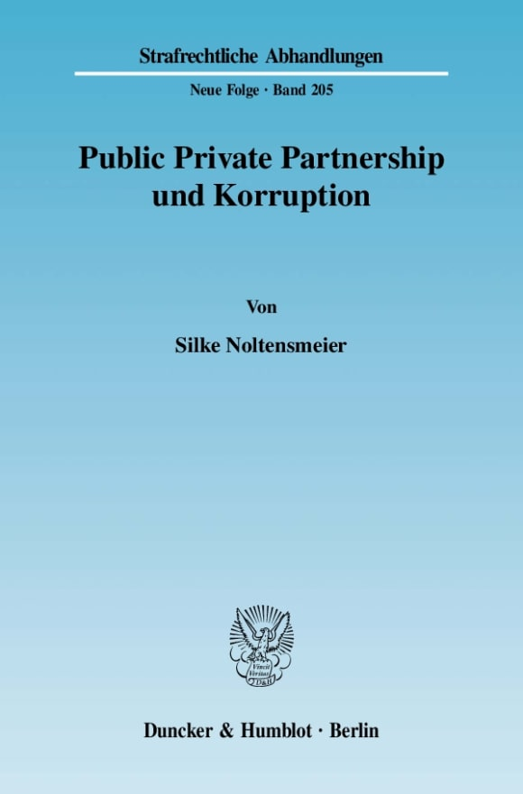Cover Public Private Partnership und Korruption