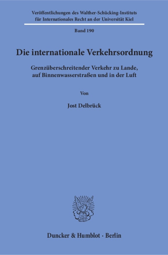 Cover Die internationale Verkehrsordnung