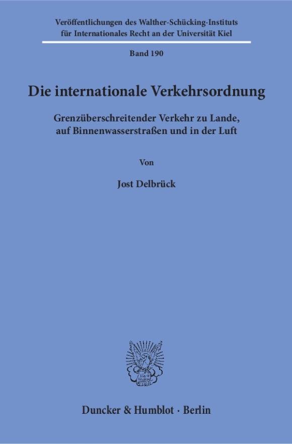 Cover Die internationale Verkehrsordnung