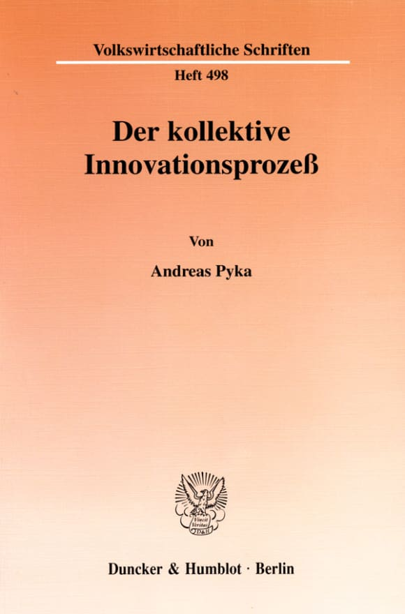 Cover Der kollektive Innovationsprozeß