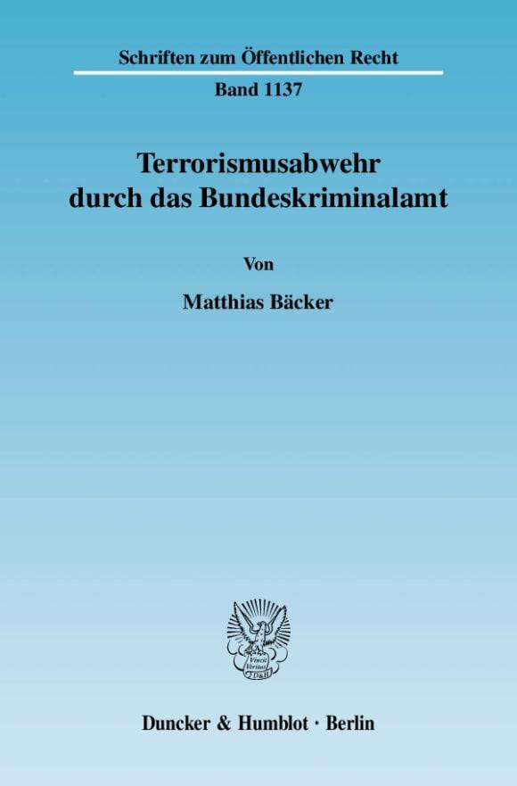 Cover Terrorismusabwehr durch das Bundeskriminalamt