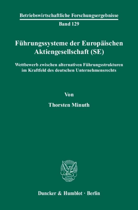 Cover Führungssysteme der Europäischen Aktiengesellschaft (SE)