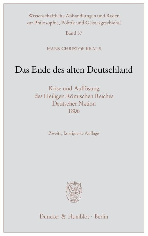 Cover Das Ende des alten Deutschland
