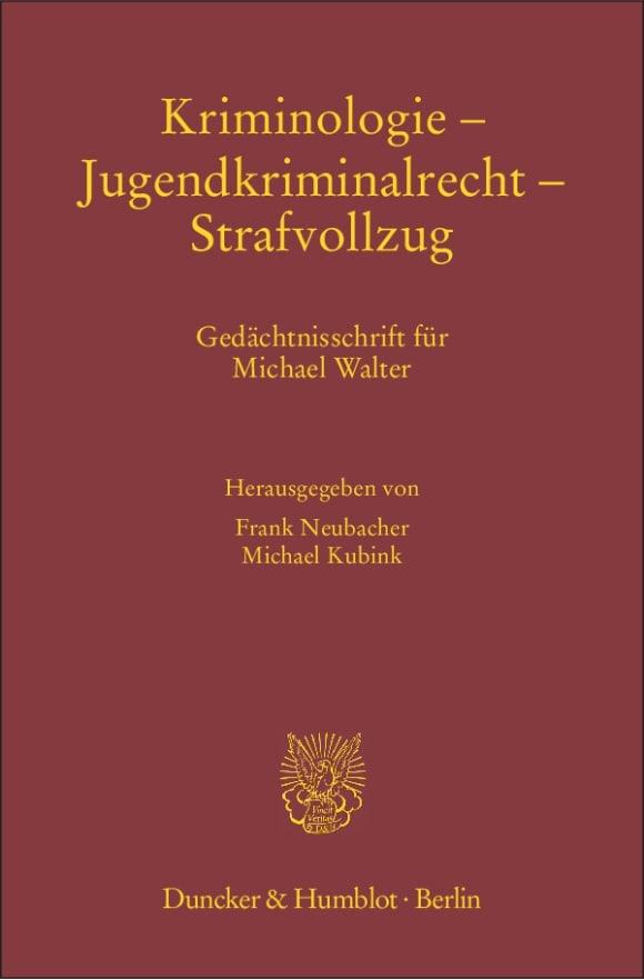 Cover Kriminologie – Jugendkriminalrecht – Strafvollzug