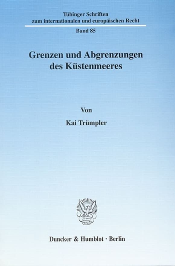 Cover Grenzen und Abgrenzungen des Küstenmeeres
