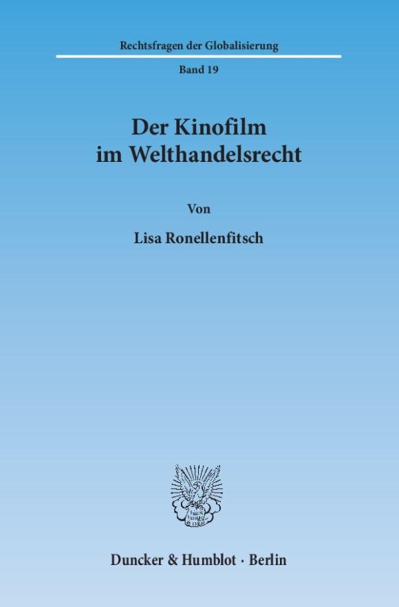 Cover Der Kinofilm im Welthandelsrecht