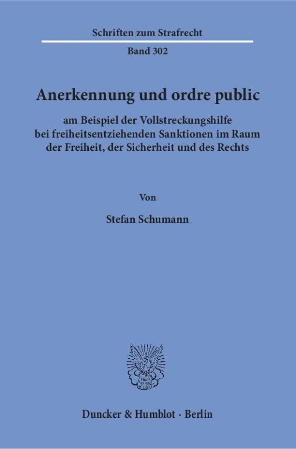 Cover Anerkennung und ordre public