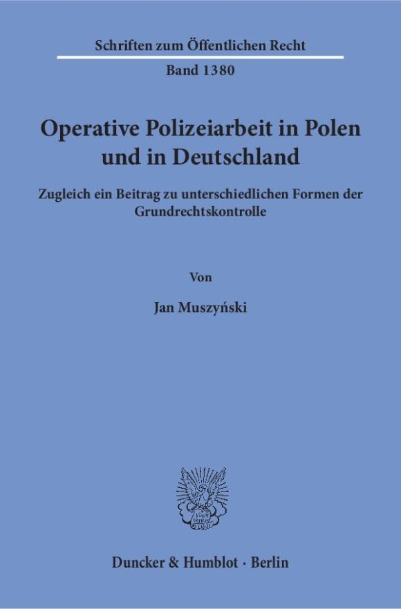 Cover Operative Polizeiarbeit in Polen und in Deutschland