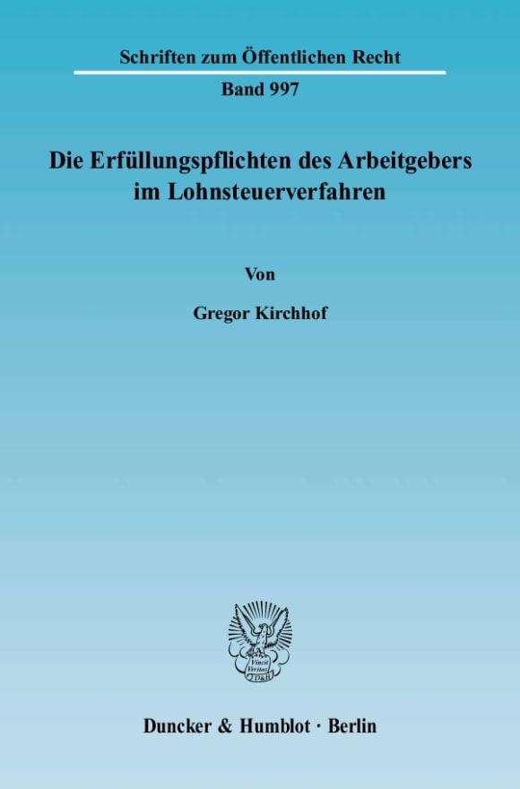 Cover Die Erfüllungspflichten des Arbeitgebers im Lohnsteuerverfahren