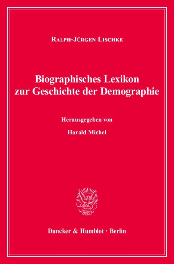 Cover Biographisches Lexikon zur Geschichte der Demographie