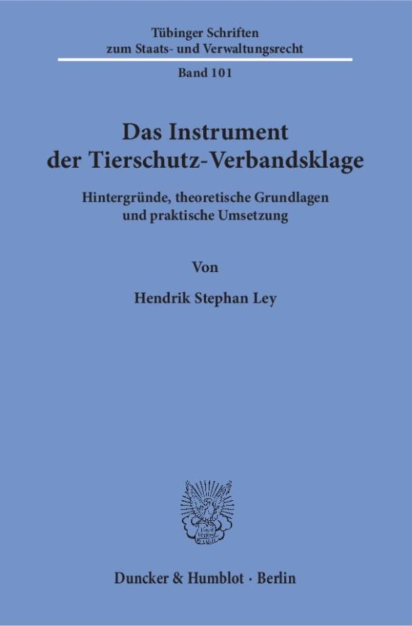 Cover Das Instrument der Tierschutz-Verbandsklage