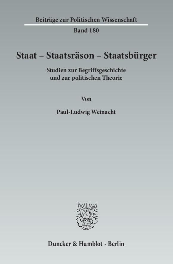 Cover Staat – Staatsräson – Staatsbürger