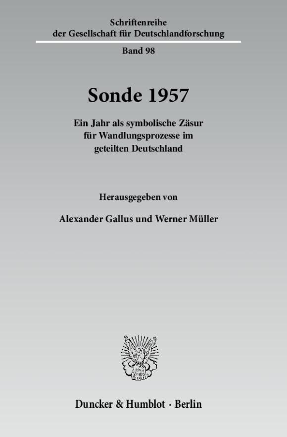Cover Sonde 1957