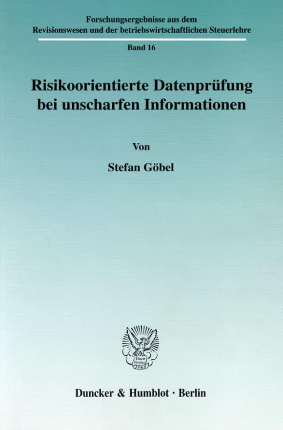 Cover Risikoorientierte Datenprüfung bei unscharfen Informationen
