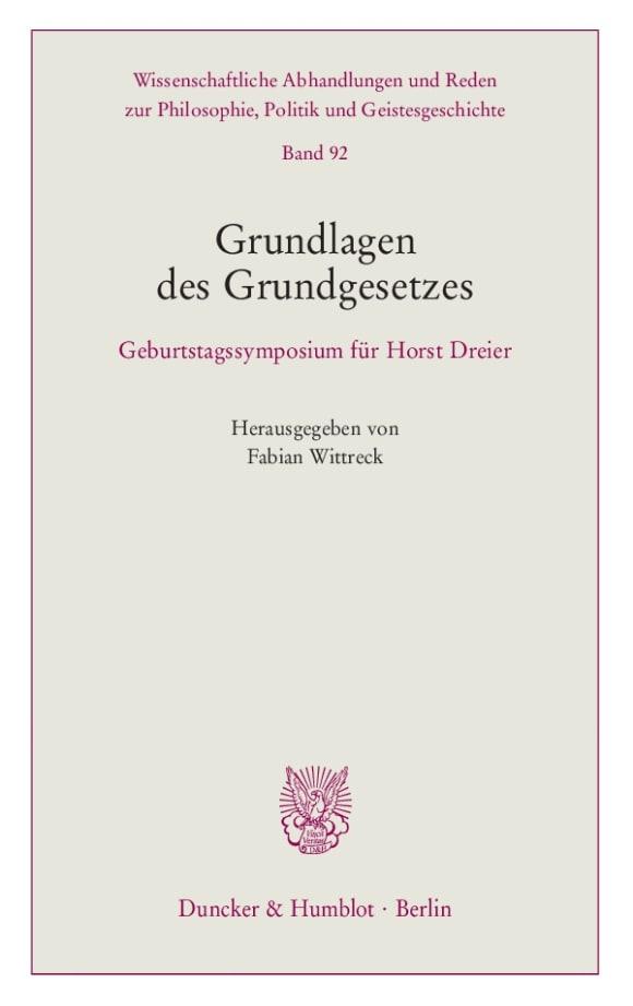 Cover Grundlagen des Grundgesetzes