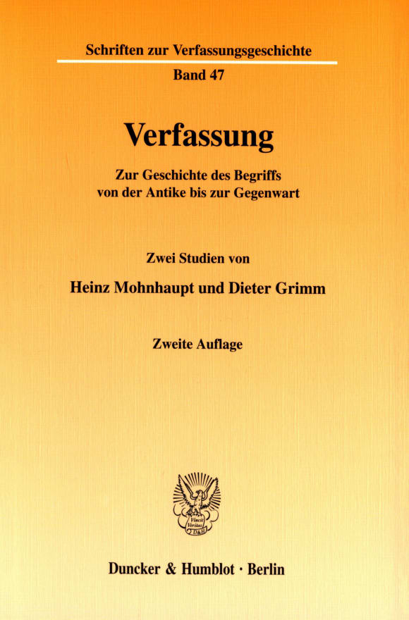 Cover Verfassung