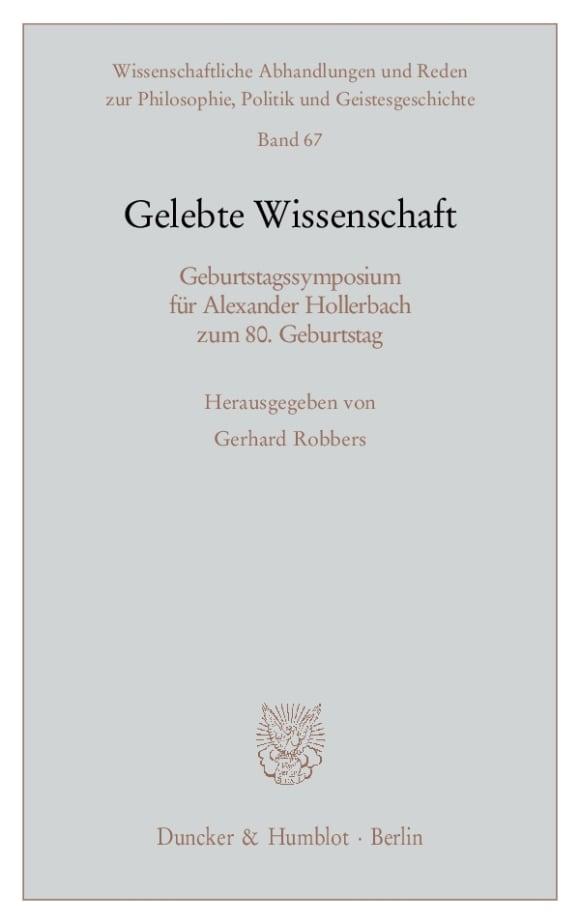 Cover Gelebte Wissenschaft
