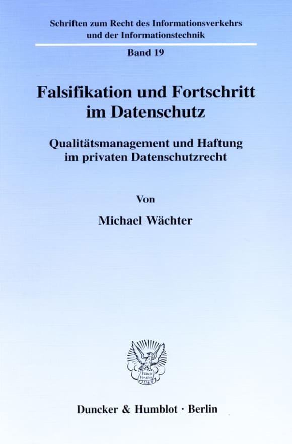 Cover Falsifikation und Fortschritt im Datenschutz