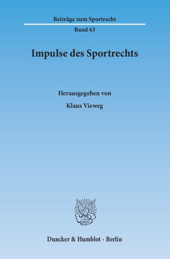 Cover Impulse des Sportrechts