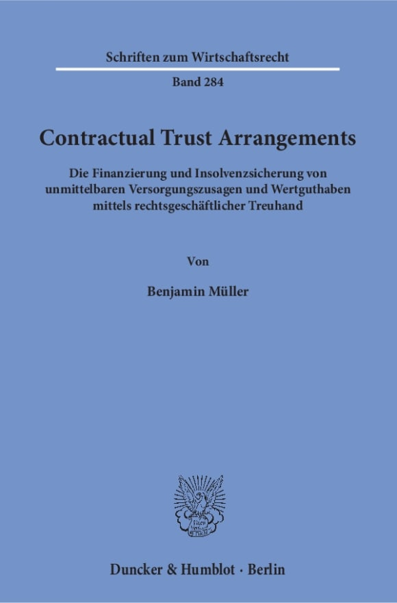 Cover Contractual Trust Arrangements