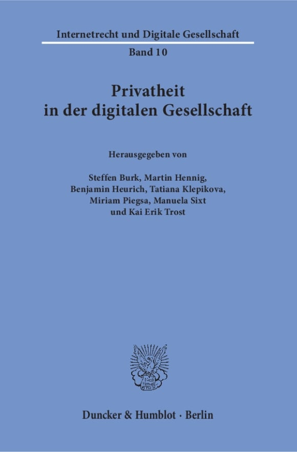 Cover Privatheit in der digitalen Gesellschaft