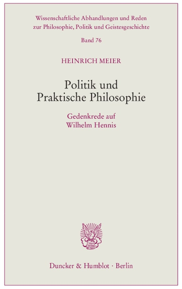 Cover Politik und Praktische Philosophie