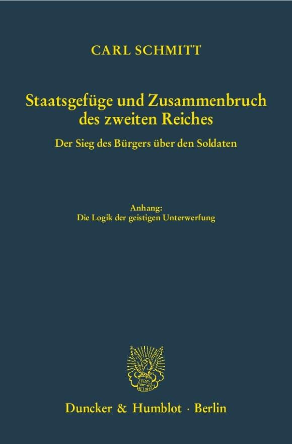 Cover Staatsgefüge und Zusammenbruch des zweiten Reiches