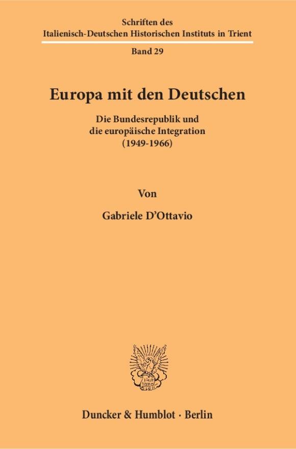 Cover Schriften des Italienisch-Deutschen Historischen Instituts in Trient (HIST)