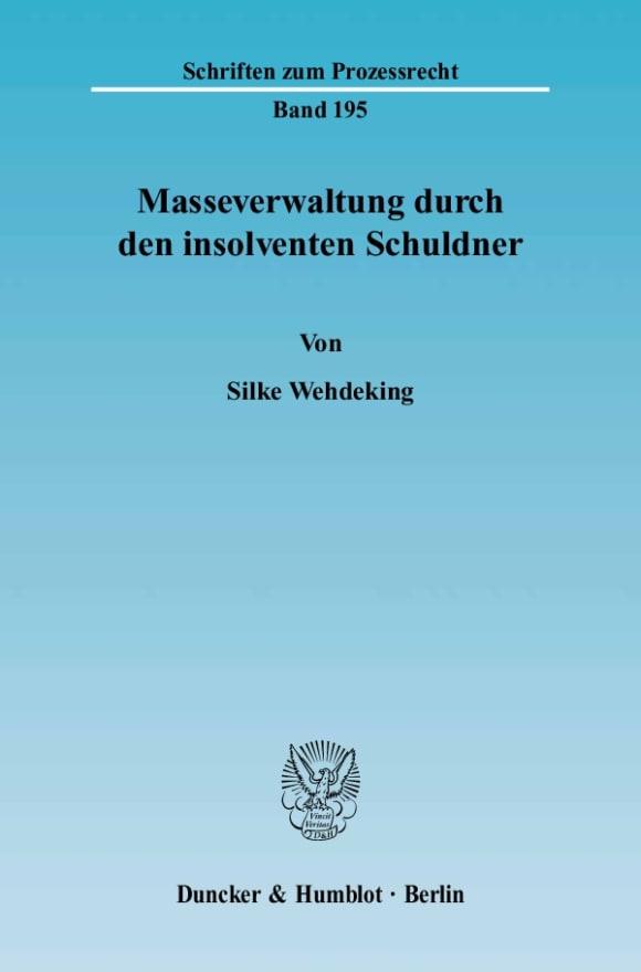 Cover Masseverwaltung durch den insolventen Schuldner