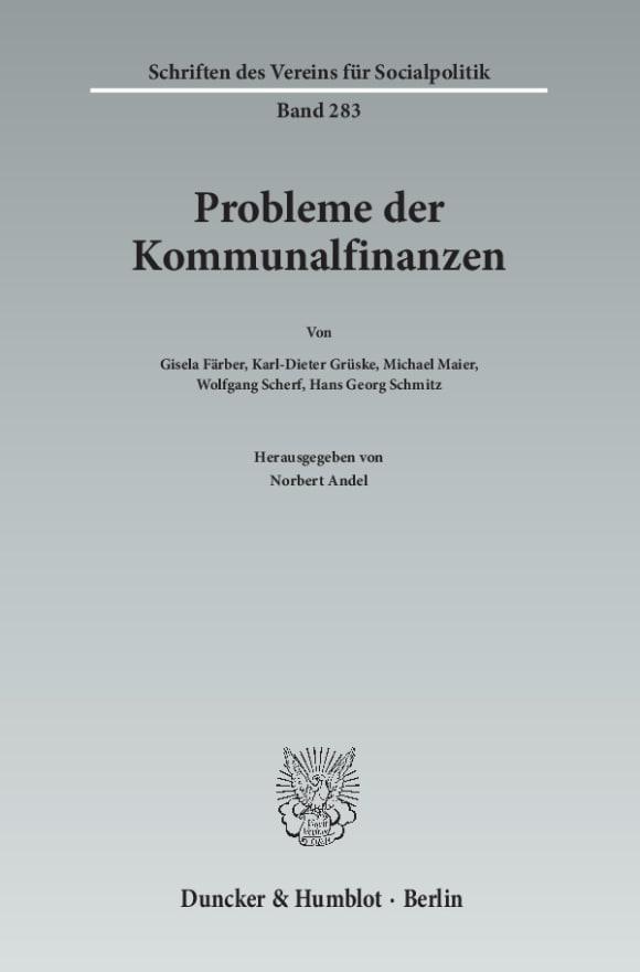 Cover Probleme der Kommunalfinanzen