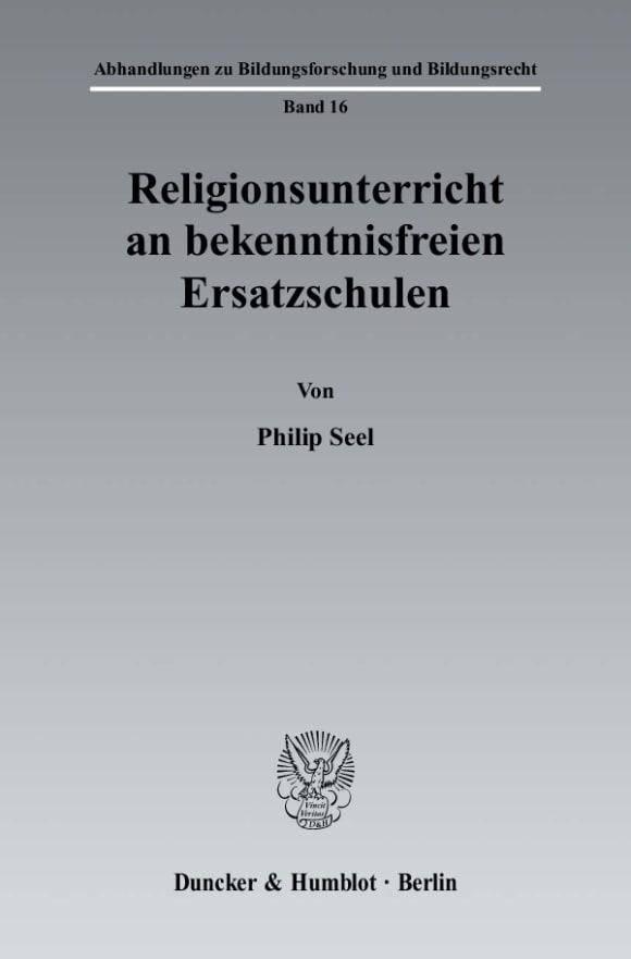 Cover Religionsunterricht an bekenntnisfreien Ersatzschulen
