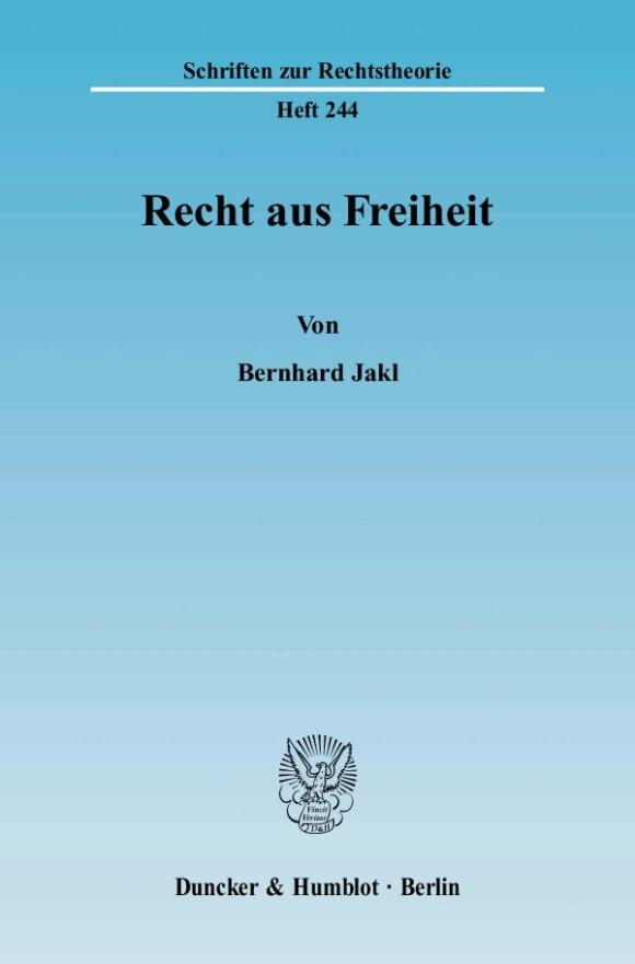Cover Recht aus Freiheit