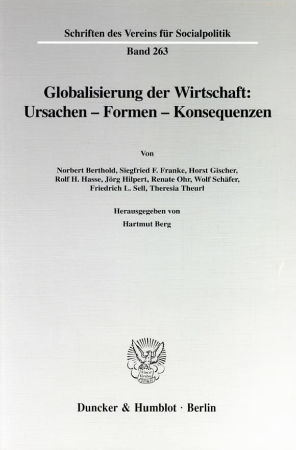 Cover Globalisierung der Wirtschaft: Ursachen - Formen - Konsequenzen