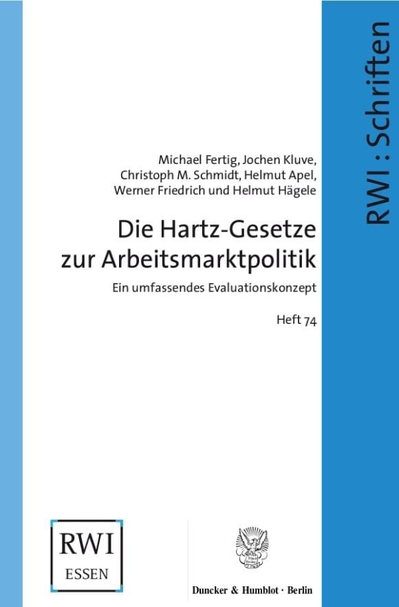 Cover Die Hartz-Gesetze zur Arbeitsmarktpolitik