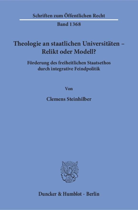 Cover Theologie an staatlichen Universitäten – Relikt oder Modell?