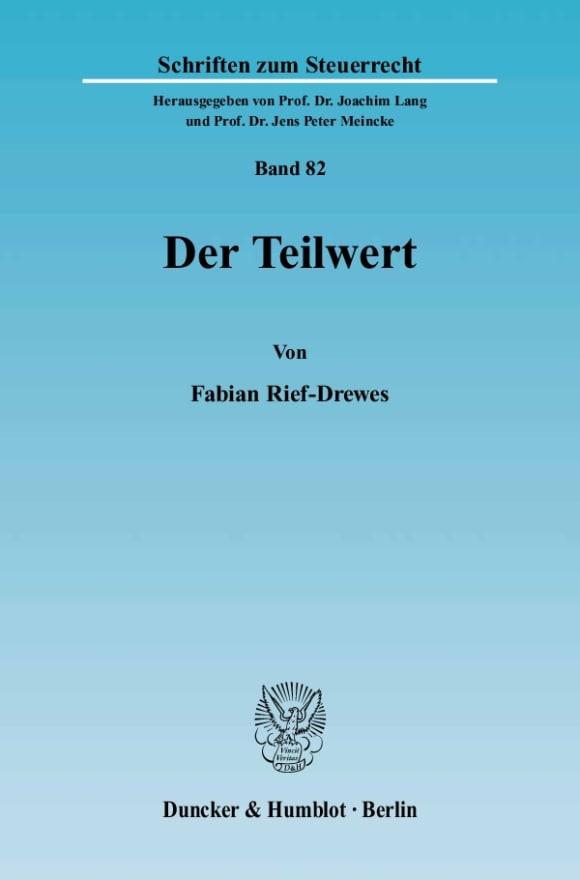 Cover Der Teilwert