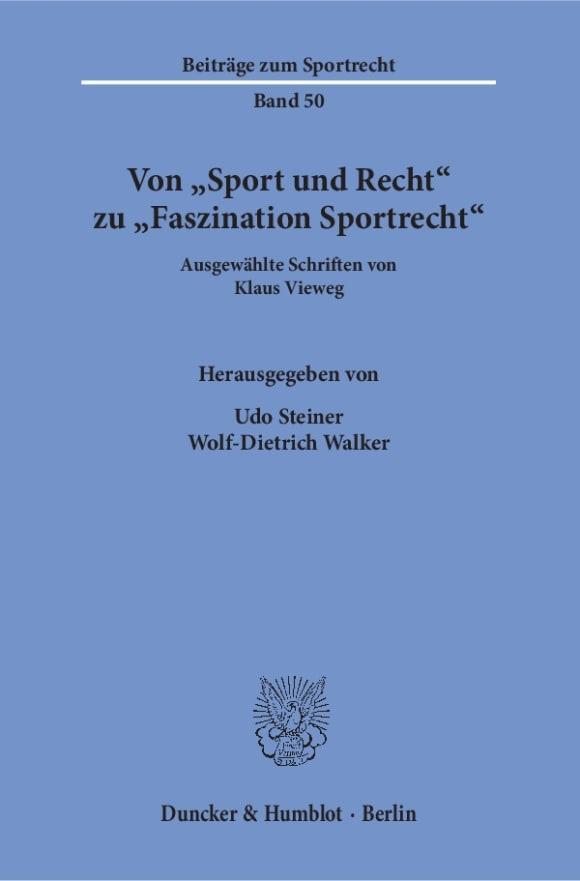 Cover Von »Sport und Recht« zu »Faszination Sportrecht«