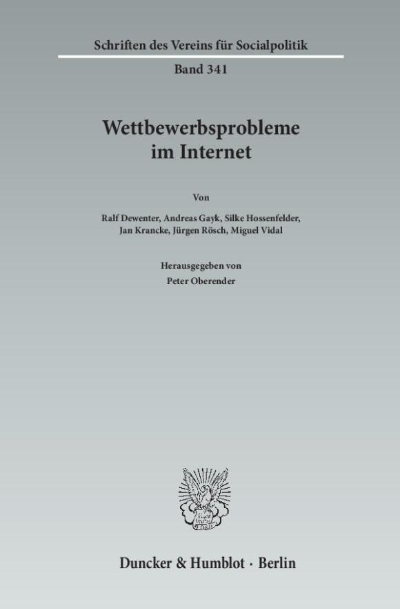 Cover Wettbewerbsprobleme im Internet