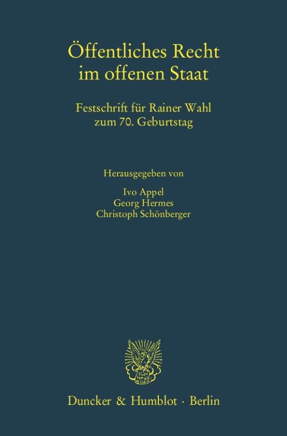 Cover Öffentliches Recht im offenen Staat