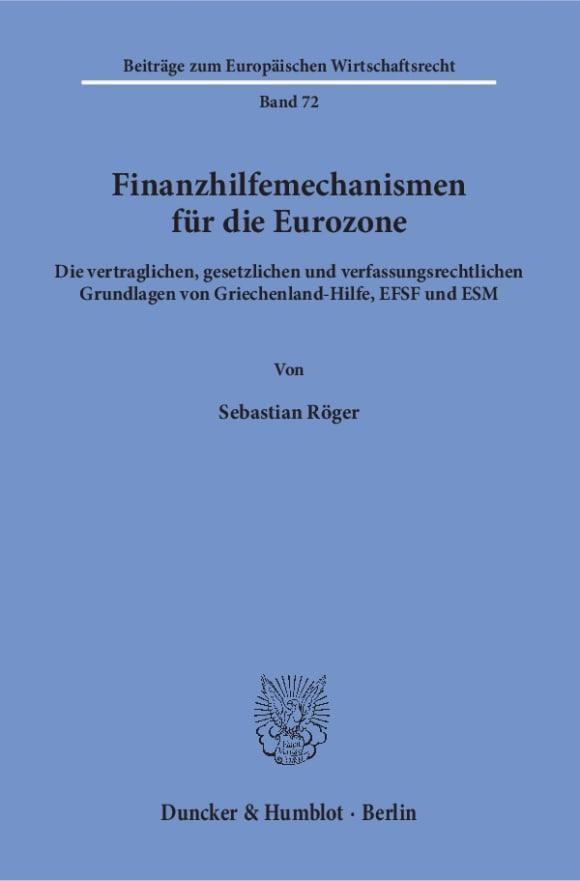 Cover Finanzhilfemechanismen für die Eurozone