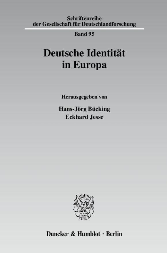 Cover Deutsche Identität in Europa