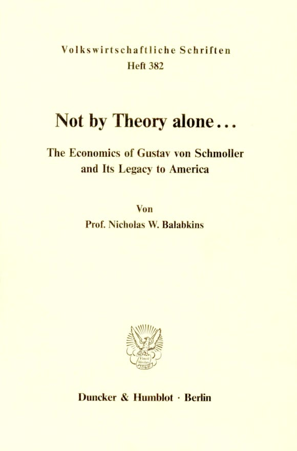 Cover Not by Theory alone ..