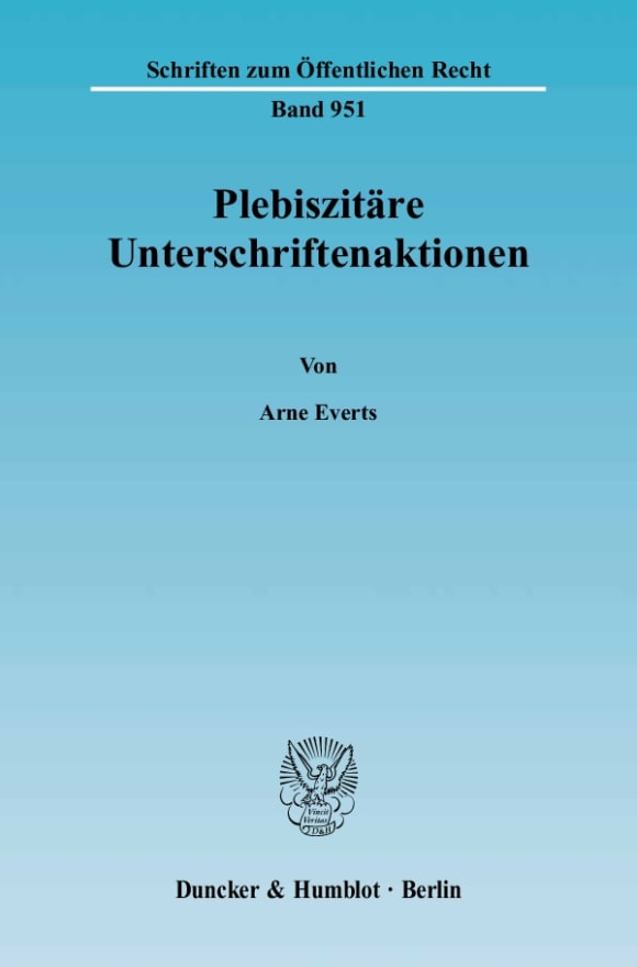 Cover Plebiszitäre Unterschriftenaktionen