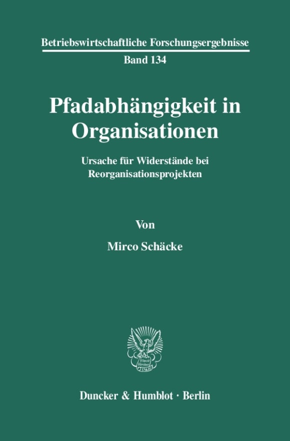 Cover Pfadabhängigkeit in Organisationen