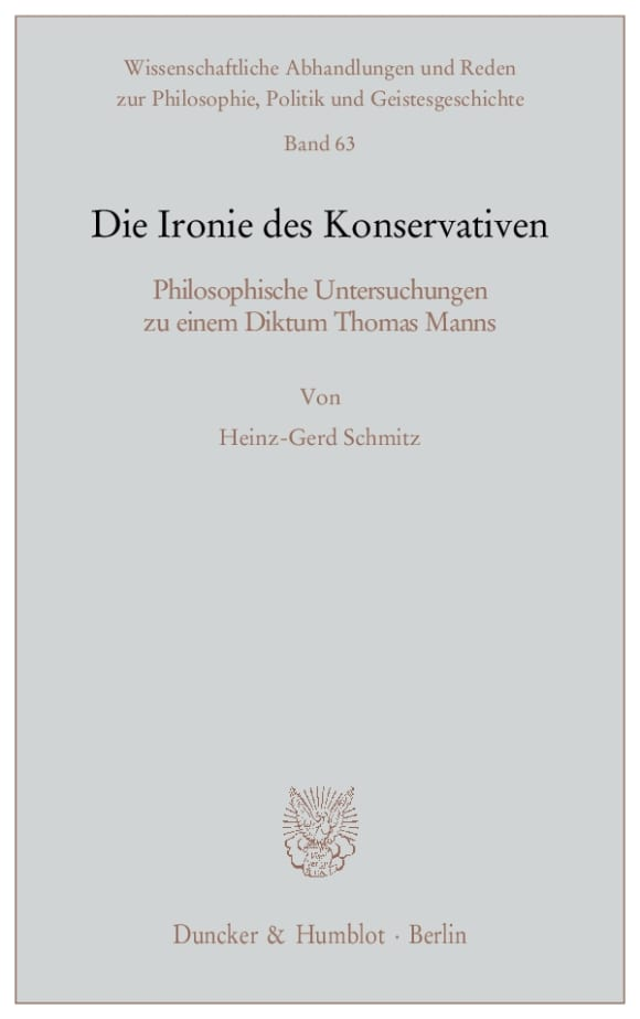 Cover Die Ironie des Konservativen