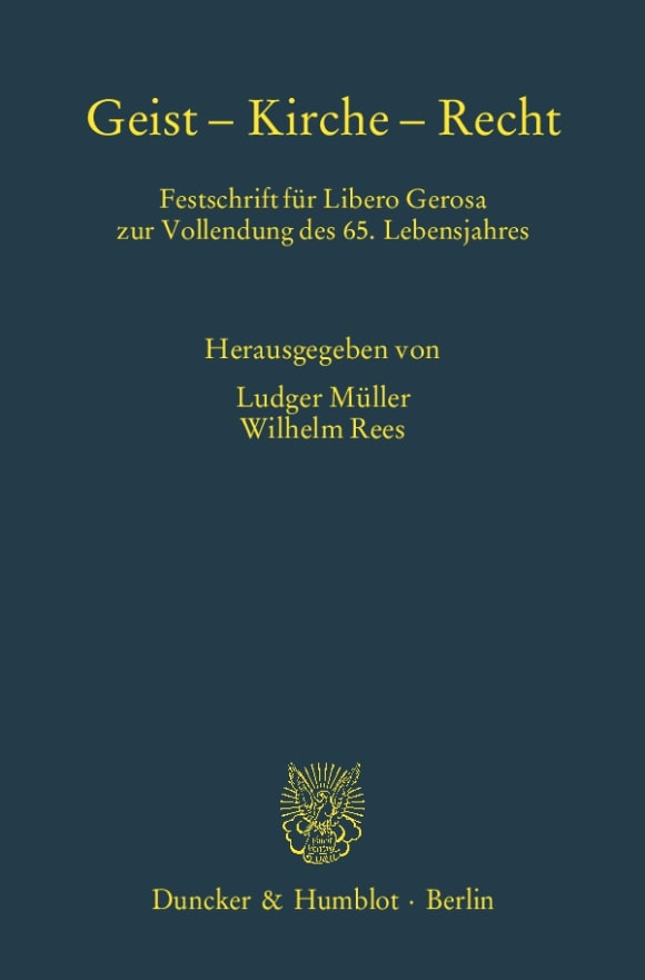 Cover Geist – Kirche – Recht