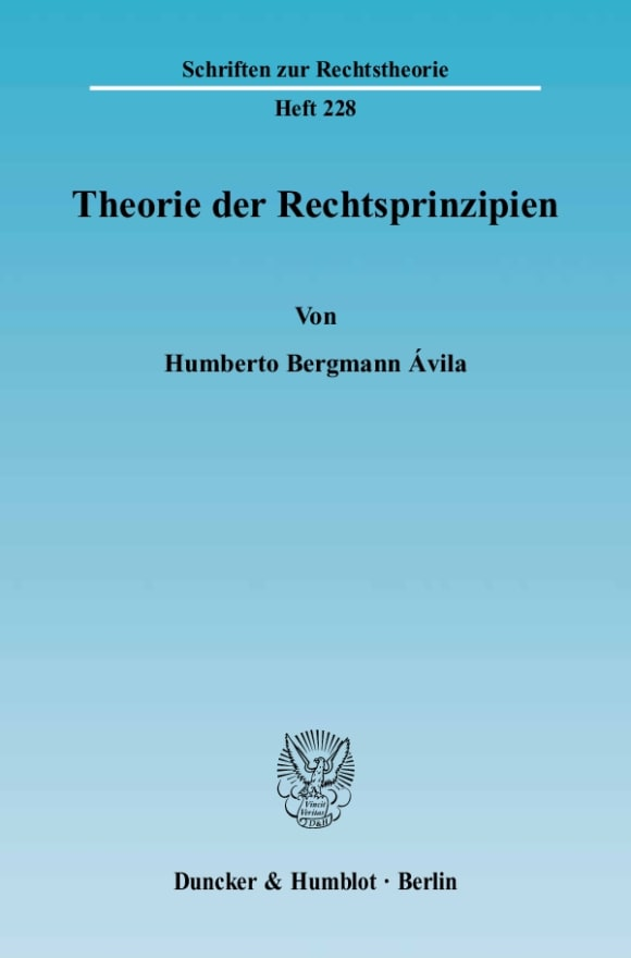 Cover Theorie der Rechtsprinzipien